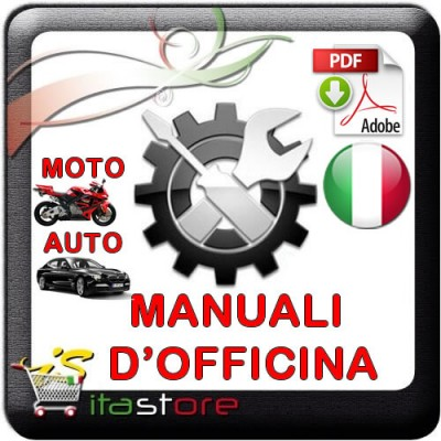 E1856 Manuale officina per scooter Malaguti Phantom F12 del 1998 PDF italiano