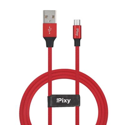 CAVO DATI E ALIMENTAZIONE MICRO USB 1,2M ROSSO PIXY PCV-M10RD