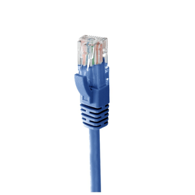 MACH POWER CAVO ETHERNET UTP CAT.6 50CM IN RAME 24AWG COLORE BLU - CV-PU6L-050-BL
