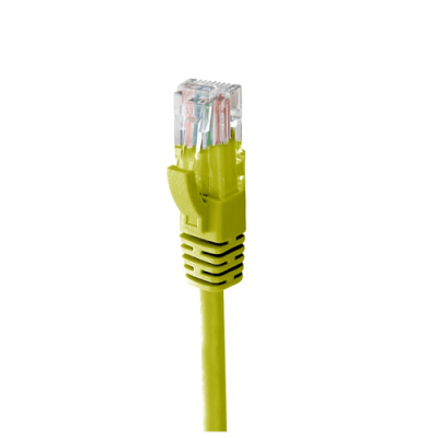 MACH POWER CAVO ETHERNET UTP CAT.6 50CM IN RAME 24AWG COLORE GIALLO - CV-PU6L-050-Y
