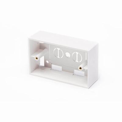 BOX IN PLASTICA MOD. 503 PER PLACCHE COL. BIANCO, 4,8CM