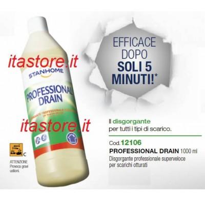 Stanhome PROFESSIONAL DRAIN 1000 ml Disgorgante professionale superveloce per scarichi otturati