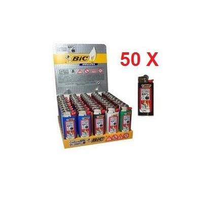 50 Accendini Bic mini in confezione