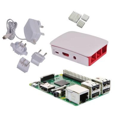 Raspberry Pi 3 Starter Kit con Alimentatore, Case e Dissipatori (E00)