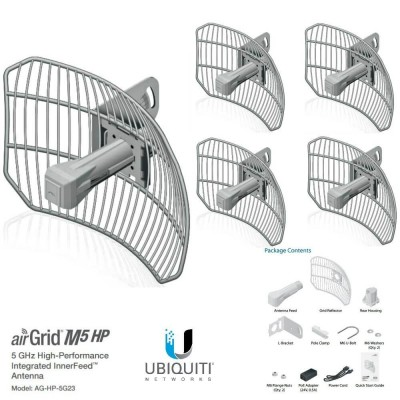 UBIQUITI AirGrid M5 AG-HP-5G23 - 5x PACK CPE access point outdoor POE 5GHz 23dBi