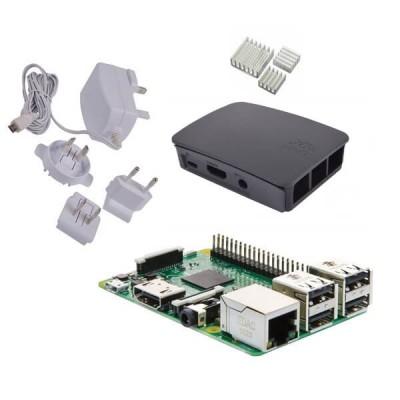 Raspberry Pi 3 Starter Kit con Alimentatore, Case e Dissipatori (E00.1)