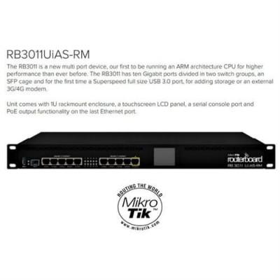 "MikroTik RouterBOARD RB3011UiAS-RM 1U 19"""
