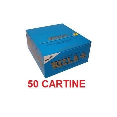50 confezioni di Cartine Rizla KSS Slim blu per sigarette