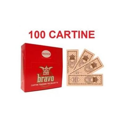 100 confezioni di Cartine Bravo rex rossa per sigarette