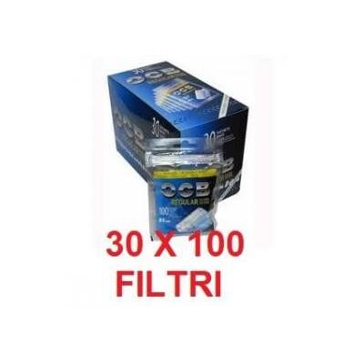 3000 Filtri Ocb regular in 30 confezioni / sacchetti da 100 pezzi