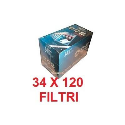 4080 Filtri Ocb slim in 34 confezioni / sacchetti da 120 pezzi