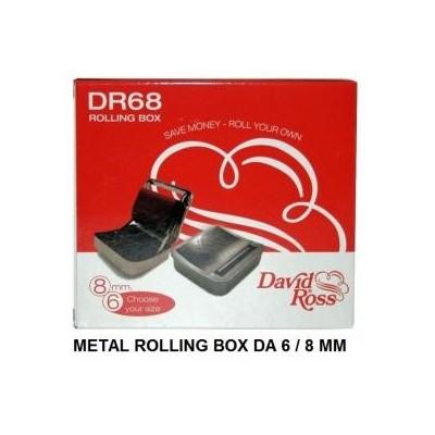 1 Portatabacco con rolling box avvolgisigarette 6/8 mm David Ross DR68 in confezione