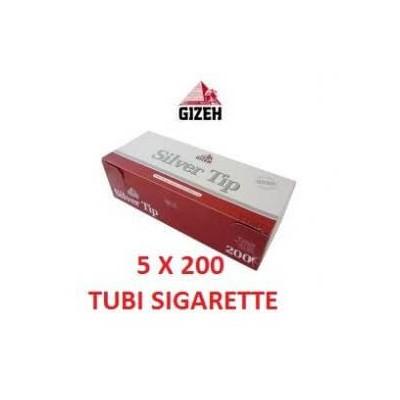 1000 tubi sigarette vuote in 5 confezioni da 200 pezzi Gizeh