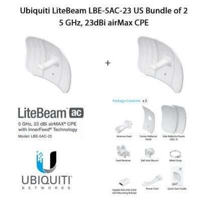 Ubiquiti LiteBeam AC LBE-5AC-23 X2 UNITS - 2 pezzi