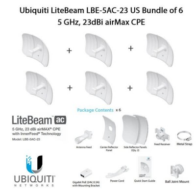 Ubiquiti LiteBeam AC LBE-5AC-23 X6 UNITS - 6 pezzi