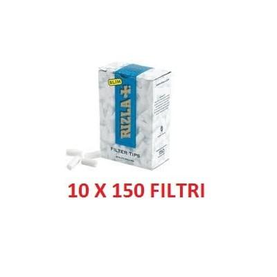 1500 Filtri slim 6 mm Rizla in 10 confezioni / astucci da 150 pezzi