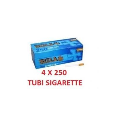 1000 tubi sigarette vuote in 4 confezioni da 250 pezzi Rizla