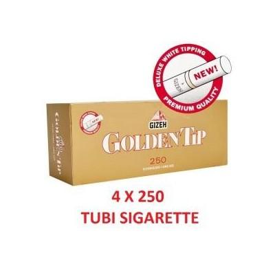 1000 tubi sigarette vuote in 4 confezioni da 250 pezzi Gizeh Golden