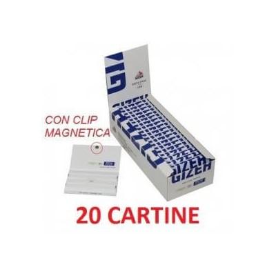 20 confezioni di Cartine Gizeh Blu magnetic con clip magnetica