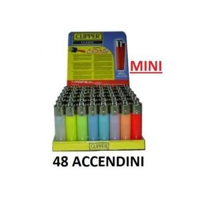48 Accendini clipper Mini in confezione