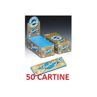 50 confezioni di Cartine corta Blu Smoking per sigarette