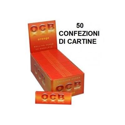 50 confezioni di Cartine corte OCB orange per sigarette