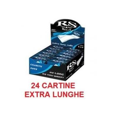 24 confezioni di Cartine a rullo RSROLLS extra lunga per sigarette