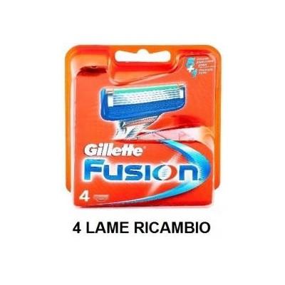 4 Lame lamette di ricambio per rasoio Gillette Fusion
