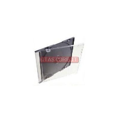 100 custodie cd slim jewel case singole rigide