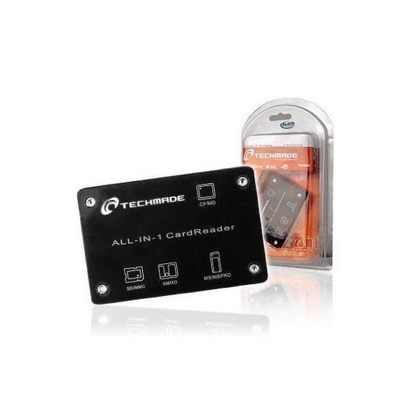 Card reader lettore card 23 in 1 esterno USB Techmade TM-8006
