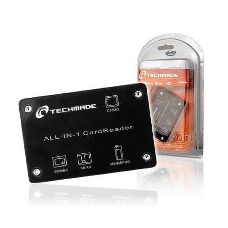 Card reader lettore card 23 in 1 esterno USB Techmade TM-8006