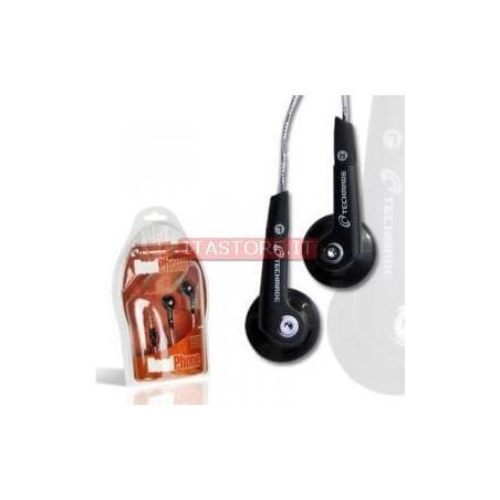 CUFFIE PER MP3 ATTACCO 3,5 NERE TECHMADE