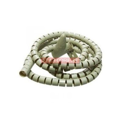 Avvolgi copri cavi a spirale mangia cavi colore bianco lungo 1,5 metri