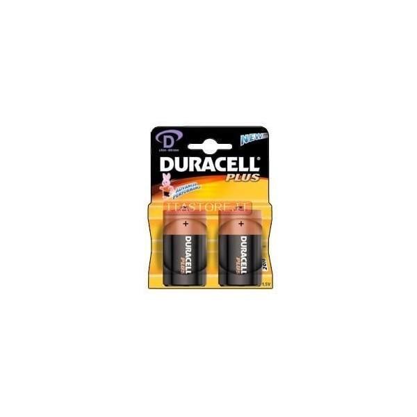 2 Batterie pile alcaline Duracell Torcia D in blister