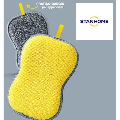 Stanhome KITCHEN SPONGE spugna double face in microfibra pulizia cucina 14x9 cm