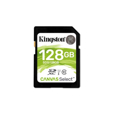 KINGSTON MEMORY CARD SDHC 128GB C10 UHS-I SDS/128GB