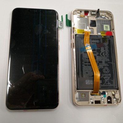 DISPLAY ORIGINALE SERVICE-PACK HUAWEI MATE 20 LITE GOLD CON FRAME E BATTERIA 02352DKN 02352GTV