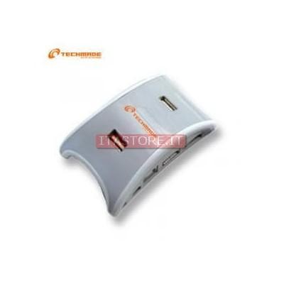 HUB SWITCH USB 7 PORTE ALIMENTATO BIANCO TECHMADE