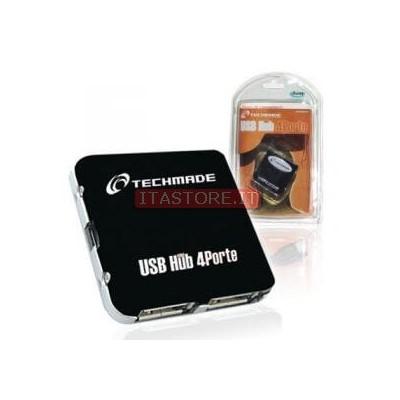 HUB USB 4 PORTE ALIMENTATO MULTIPORTA USB TECHMADE
