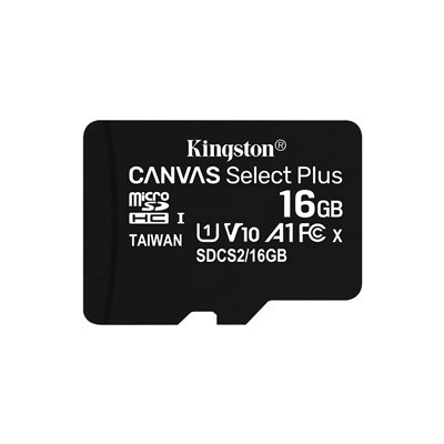 MEMORY CARD MICROSD 16GB UHS-I C10 KINGSTON CANVAS SELECT SDCS2/16GB