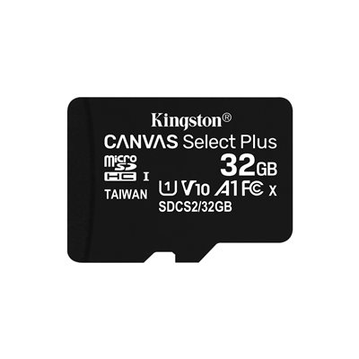 MEMORY CARD MICROSD 32GB UHS-I C10 KINGSTON CANVAS SELECT SDCS2/32GB