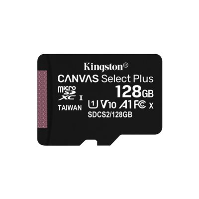 MEMORY CARD MICROSD 128GB UHS-I C10 KINGSTON CANVAS SELECT SDCS2/128GB