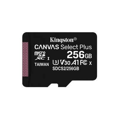 MEMORY CARD MICROSD 256GB UHS-I C10 KINGSTON CANVAS SELECT SDCS2/256GB