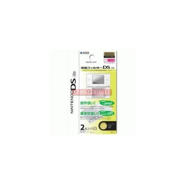 DS LITE 2 pellicole protettive salvaschermo antrigraffio per schermo display Nintendo Ds Lite