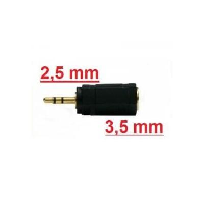 Adattatore convertitore audio stereo da jack 3,5 mm a jack 2,5 mm per lettori mp3 mp4