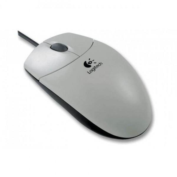 Mouse ottico Logitech bianco con attacco PS2 - 1000 dpi con scroll