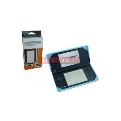 Custodia case protettiva in gomma silicone colore bianco semi trasparente per Nintendo DSI