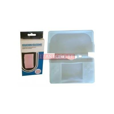Custodia protettiva gomma silicon case per Nintendo DS LITE colore bianco