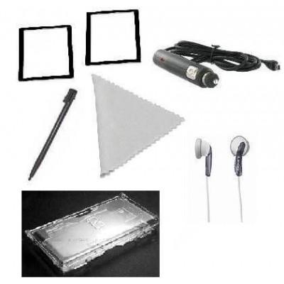 Kit 6 in 1 accessori Nintendo DSi con pellicole caricatore custodia cuffie e pennino