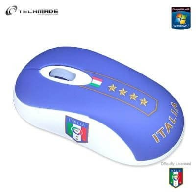 Mini mouse ottico USB Italia con cavo retrattile 800 dpi Techmade TM-1046